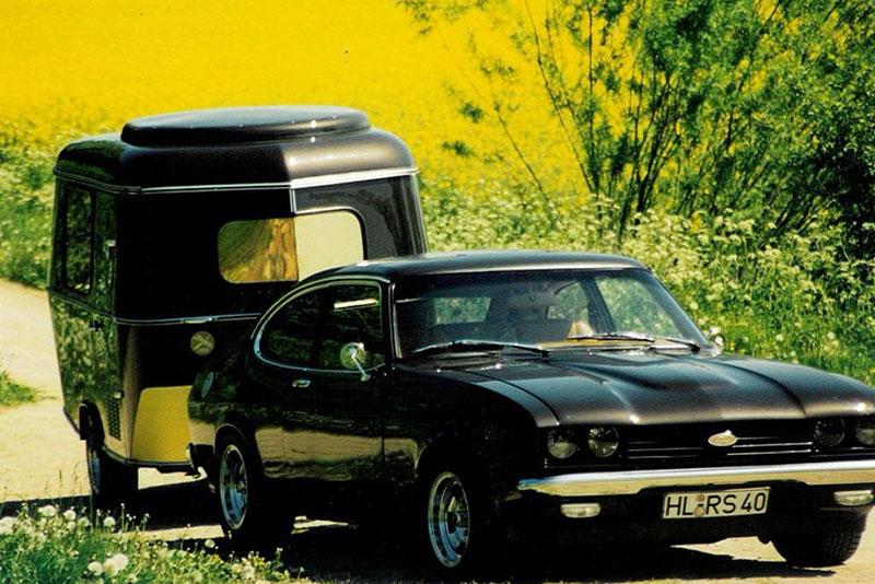 Ford Capri Classic Edition mit Wohnwagen
