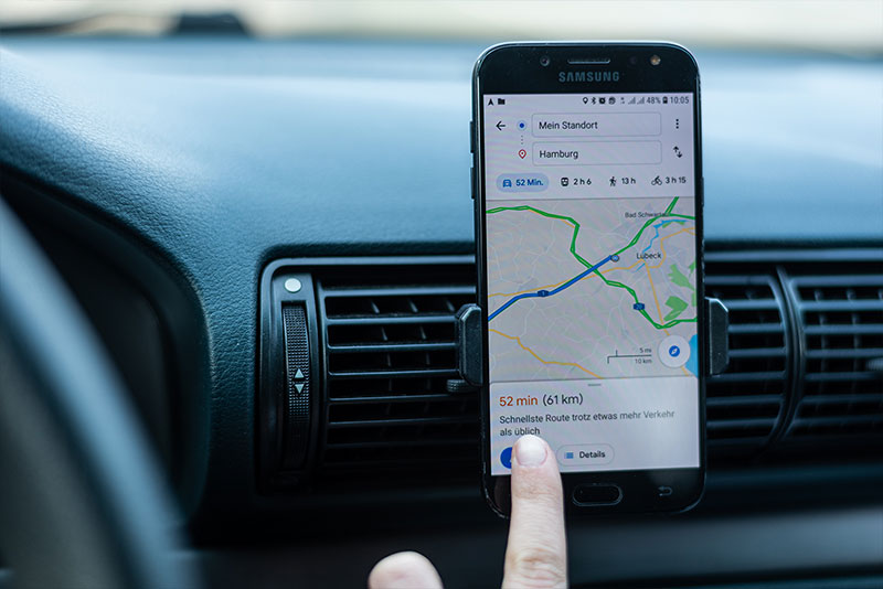 Handy als Navigationsgerät